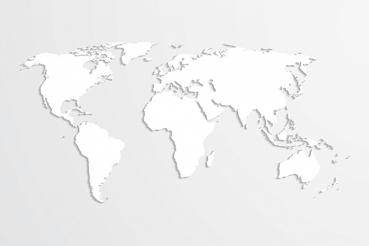 World map, vector. example image 1