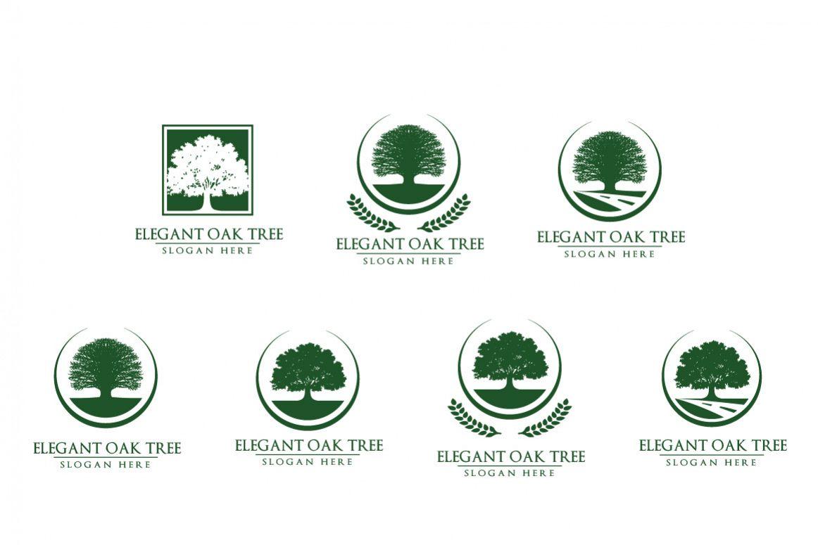 Green Oak Tree Logo vol 3 example image 1
