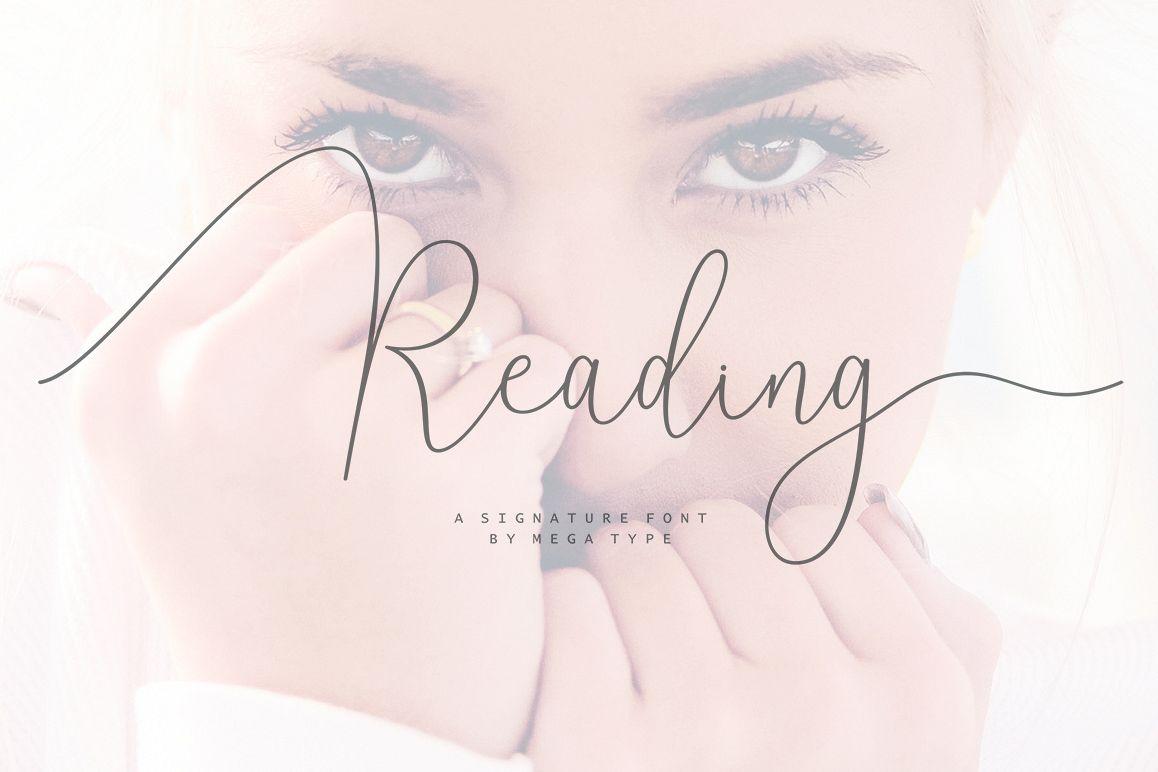 Reading Signatue Font example image 1