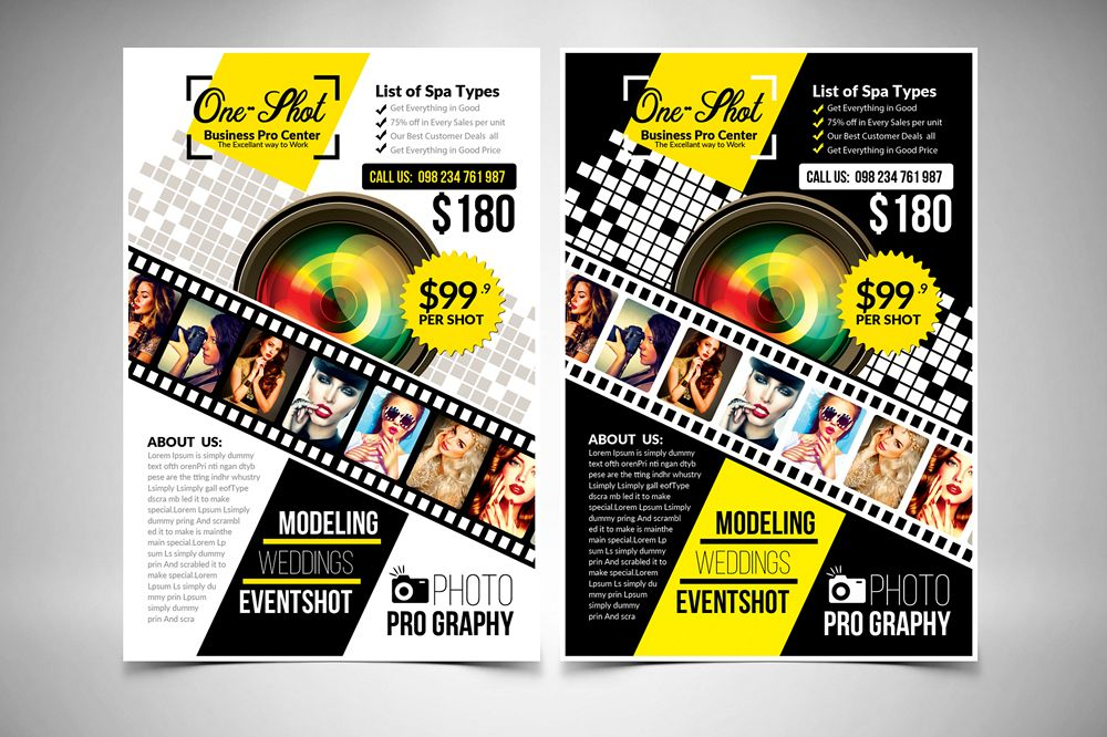 Photography Flyer Template example image 1