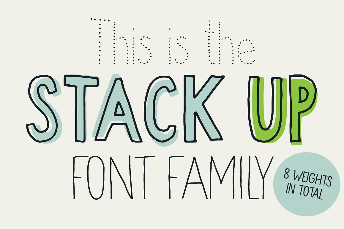 Stack up - The universal font family example image 1