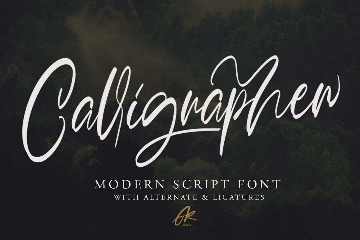 Calligrapher | Modern Script Font example image 1