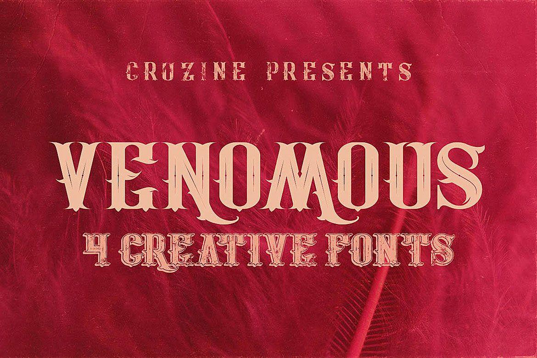 Venomous Typeface example image 1