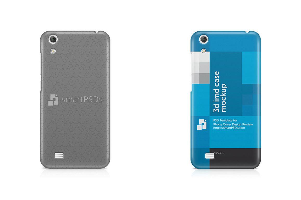 Vivo Y18 3d IMD Mobile Case Design Mockup  example image 1
