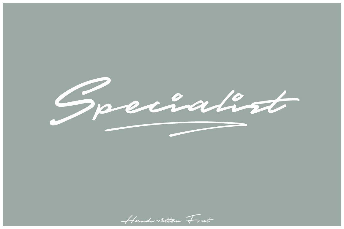 Specialist Handwritten Font example image 1