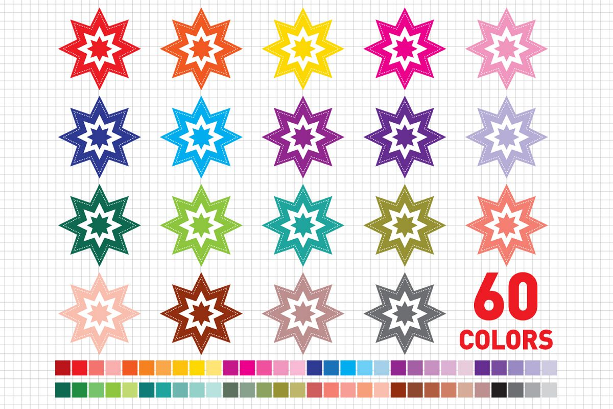Stars Clipart / Stars graphic and illustrations / Christmas Stars Clipart / Scrapbooking / Card Makig example image 1