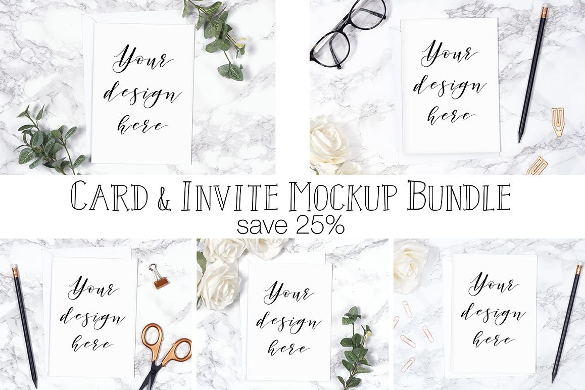 Card Mockup Bundle example image 1