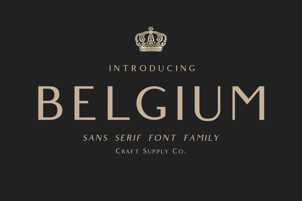 Belgium Font Family example image 1