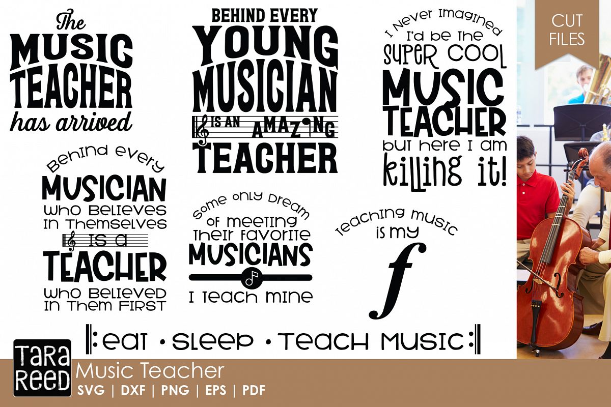 Music Teacher - Music SVG & Cut Files for Crafters example image 1
