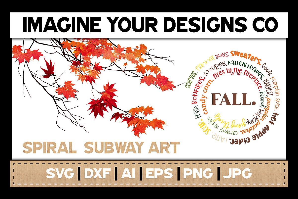 Fall SVG Cut File, Spiral Subway SVG Sublimation example image 1