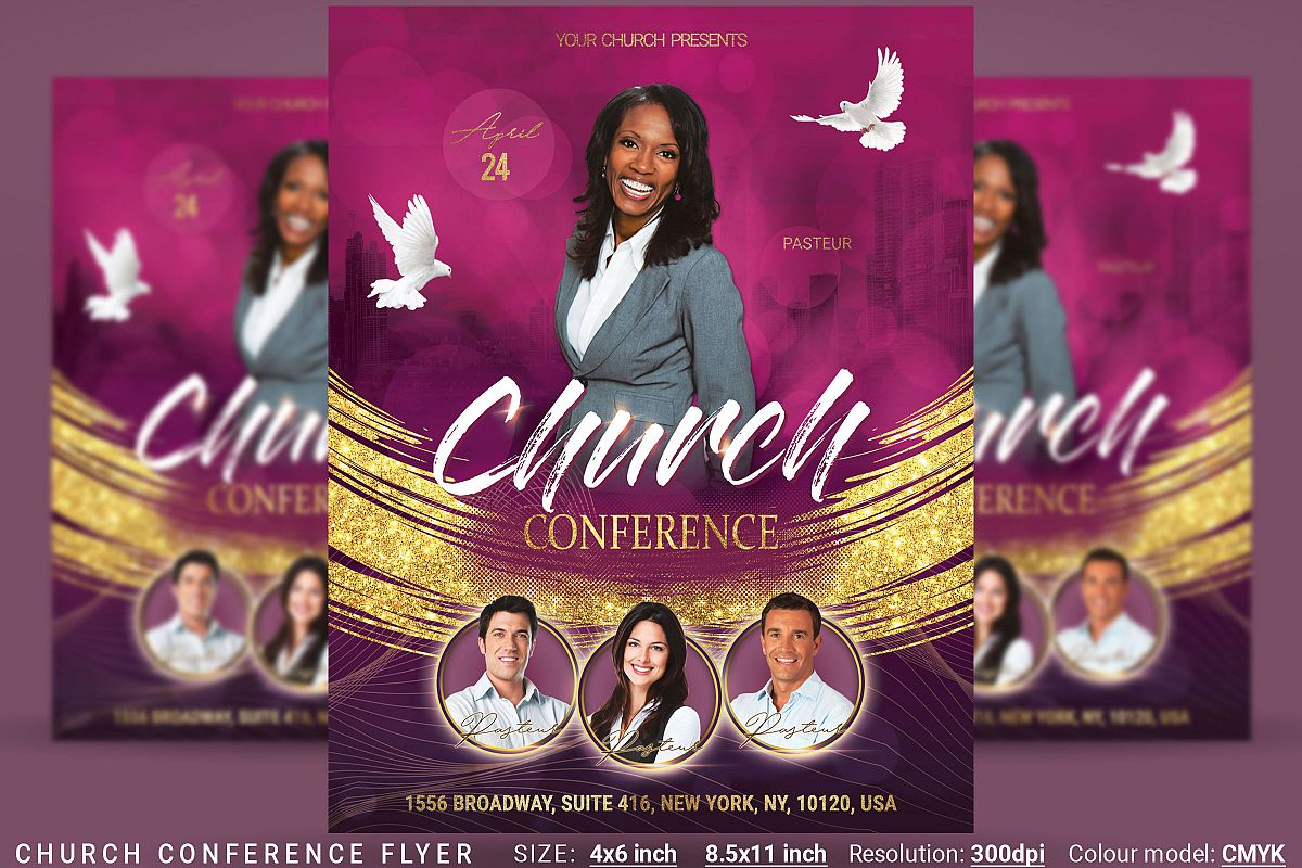 Church Conference Flyer Poster example image 1