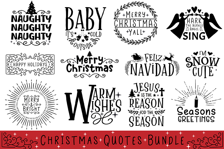 Christmas Quotes Bundle example image 1