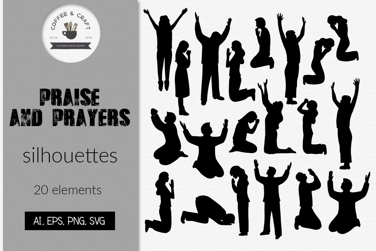 Praise and prayers silhouettes example image 1
