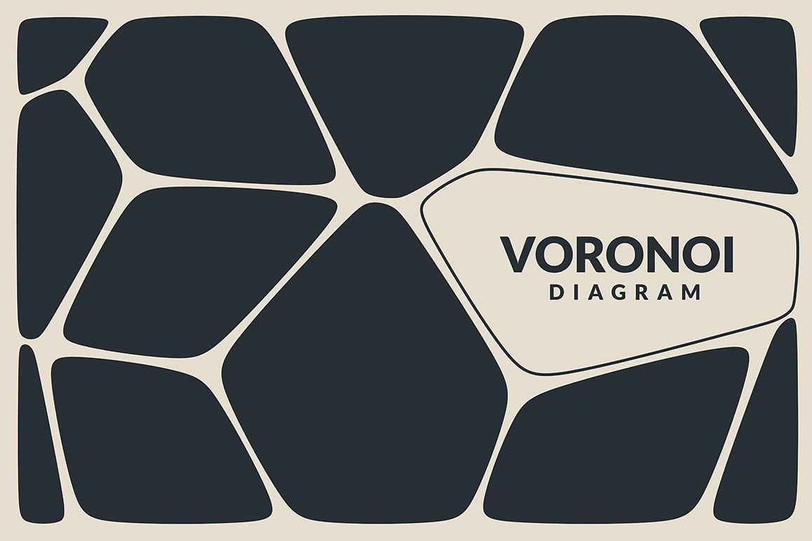 Voronoi Diagram Vector Backgrounds example image 1