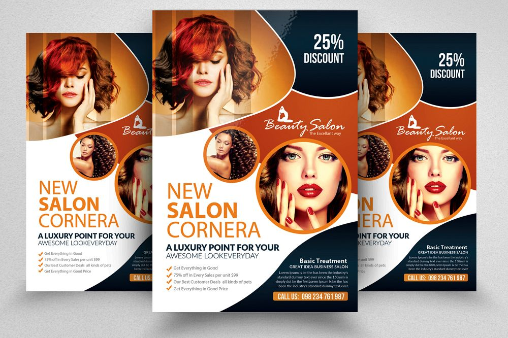 Charming Beauty Salon Flyer Template Example Image