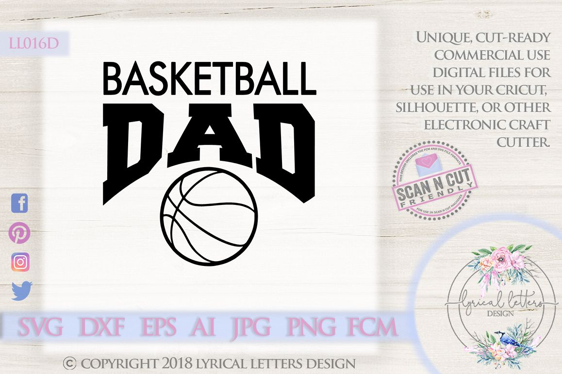 Basketball Dad Sports SVG DXF Cut File LL016D example image 1