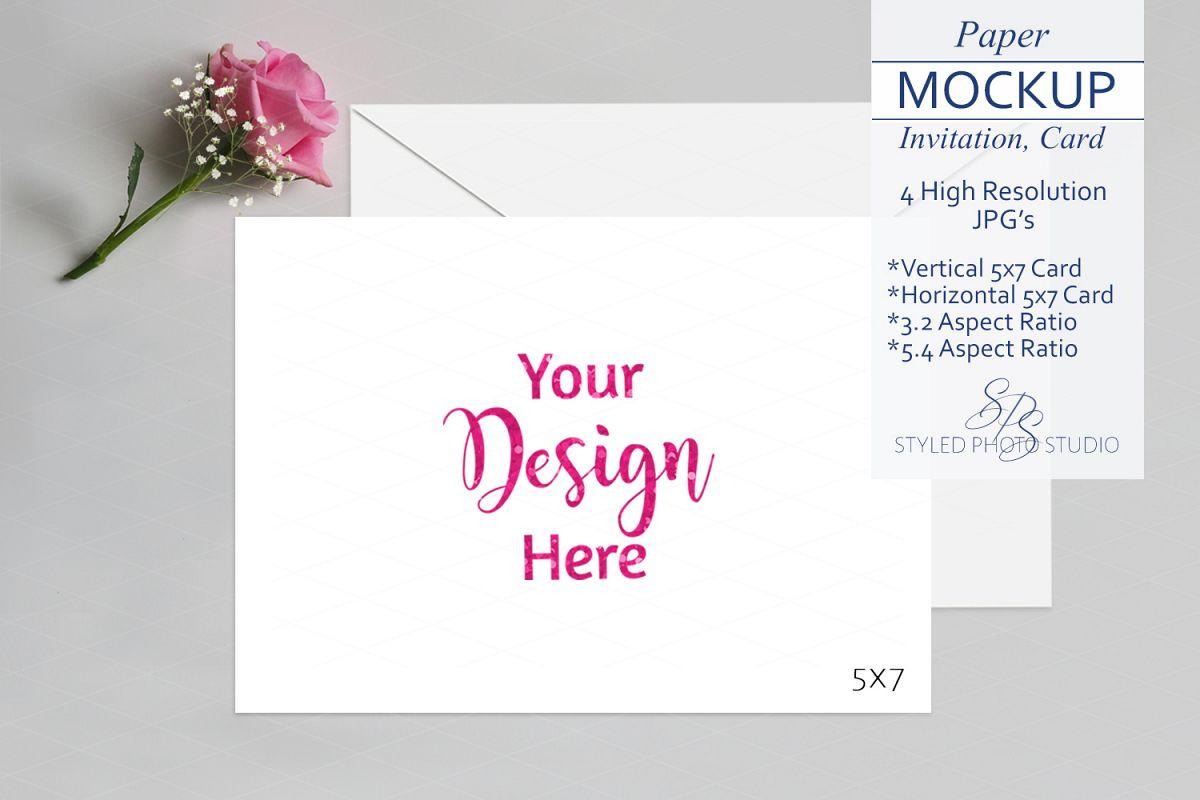 Valentine Card Mockup Invitation Mockup 5x7 Card 3 2 5 4 A