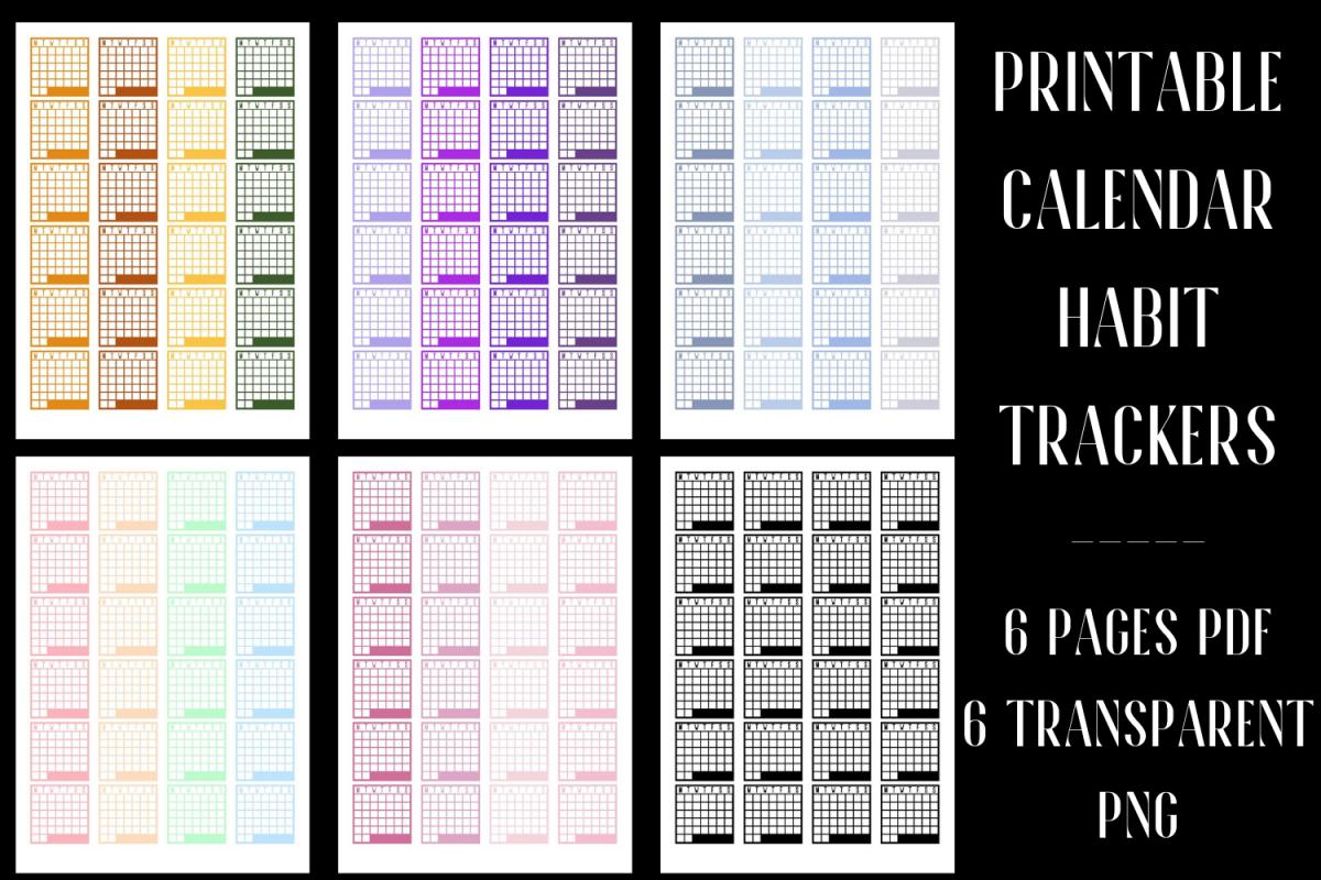 Calendar Habit Tracker Stickers example image 1