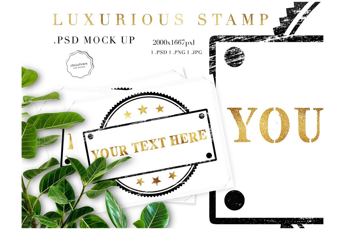 Stamp Mock Up .PSD  example image 1
