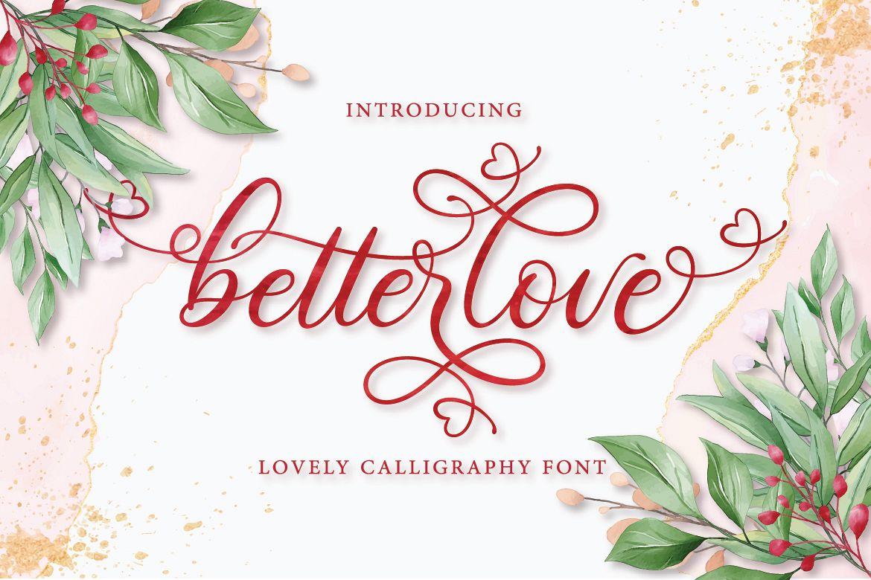 Betterlove Calligraphy example image 1