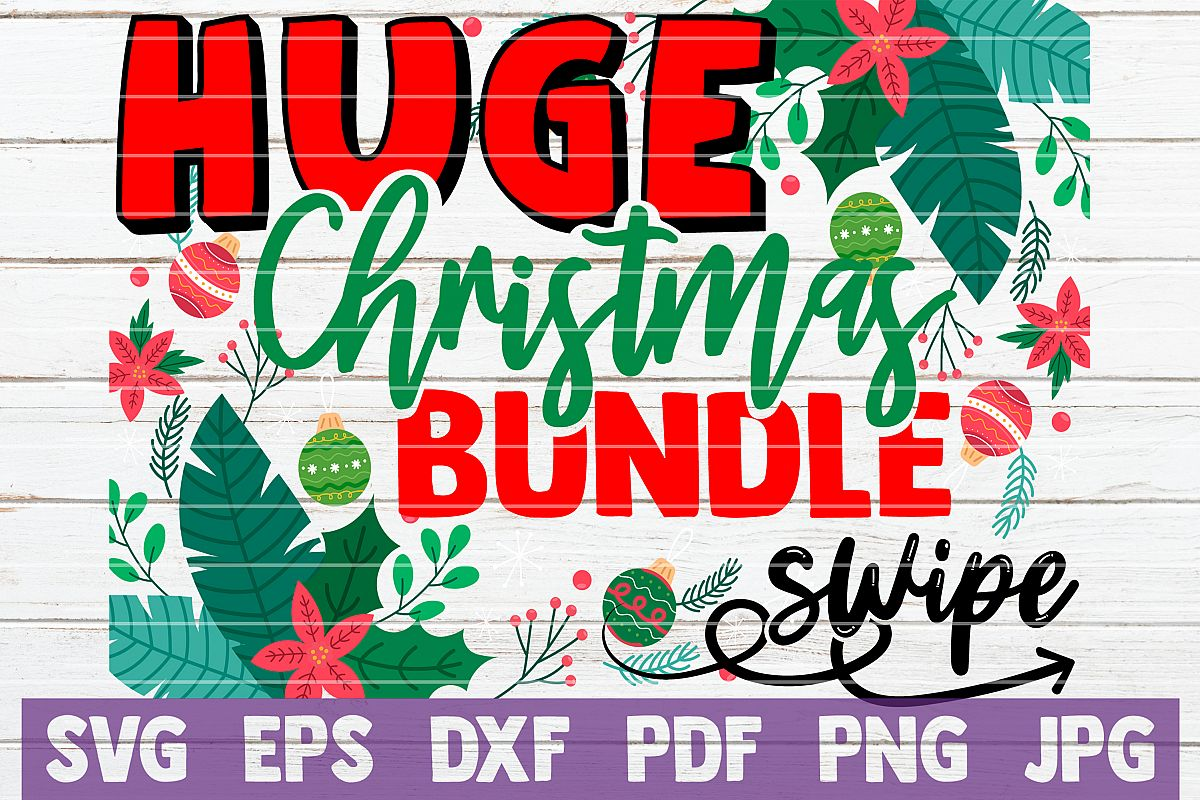 HUGE Christmas SVG Bundle |100 Holiday Designs SVG Cut Files example image 1