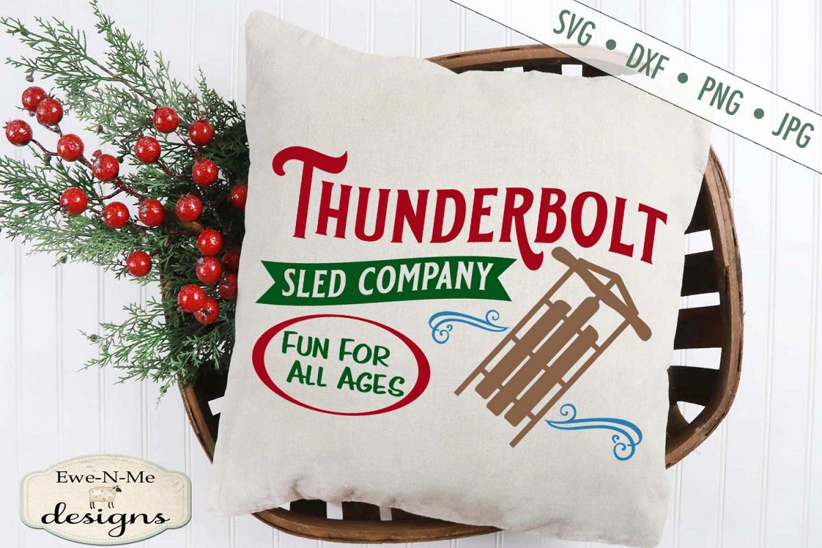 Thunderbolt Sled Co - Christmas - Winter - SVG DXF Files example image 1