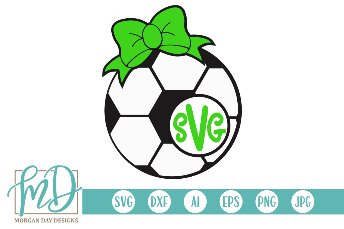 Soccer Monogram SVG, DXF, AI, EPS, PNG, JPEG example image 1