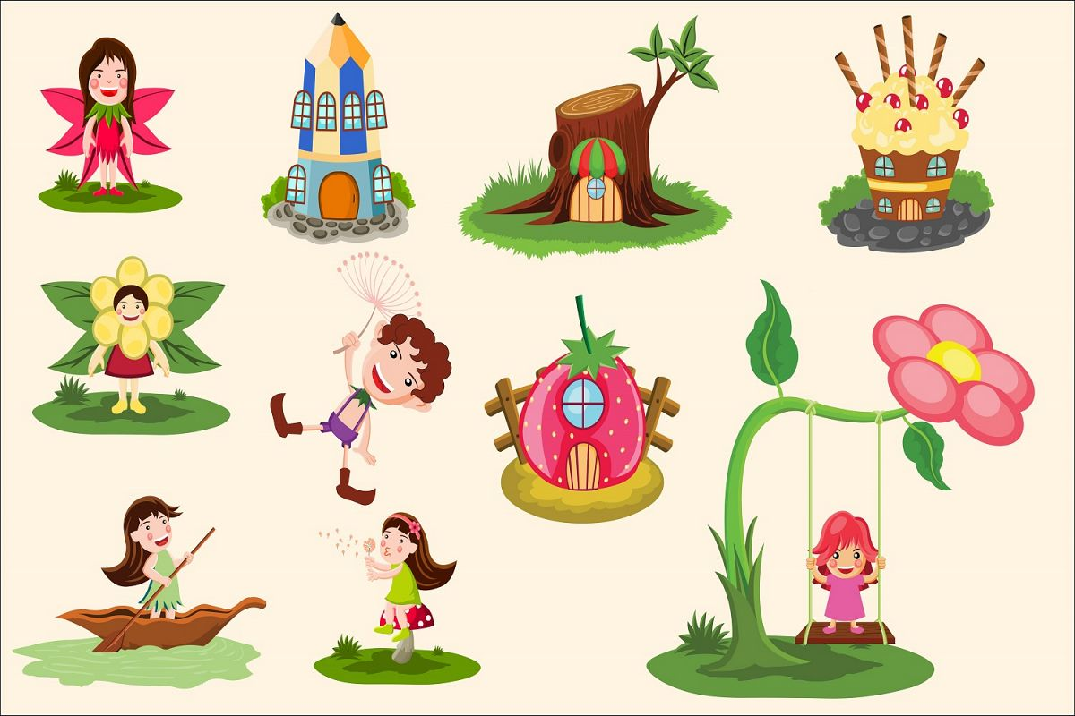 Fairy tale illustration Vector Pack example image 1
