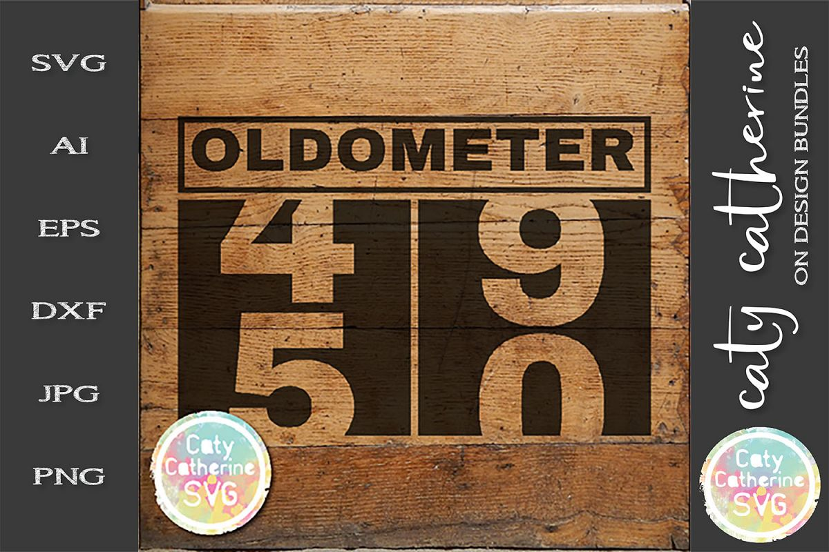 50 Fiftieth Birthday Oldometer SVG Cut File example image 1