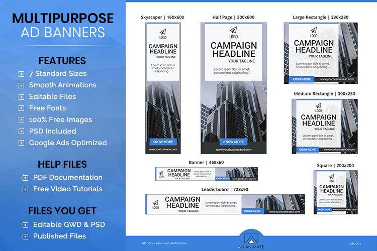 multipurpose banner ad template mu001