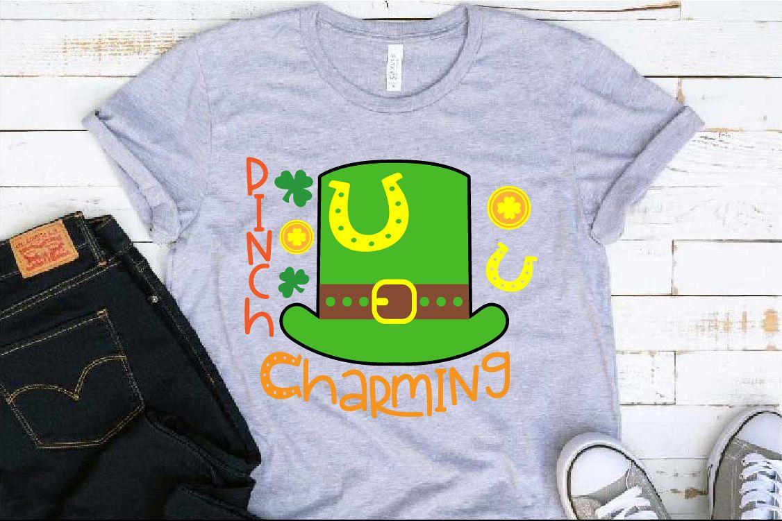 Pinch Charming SVG St. Patricks Day SVG Shamrock 1258S example image 1