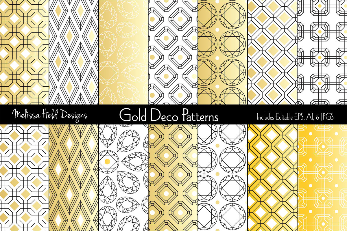 Gold Deco Patterns example image 1