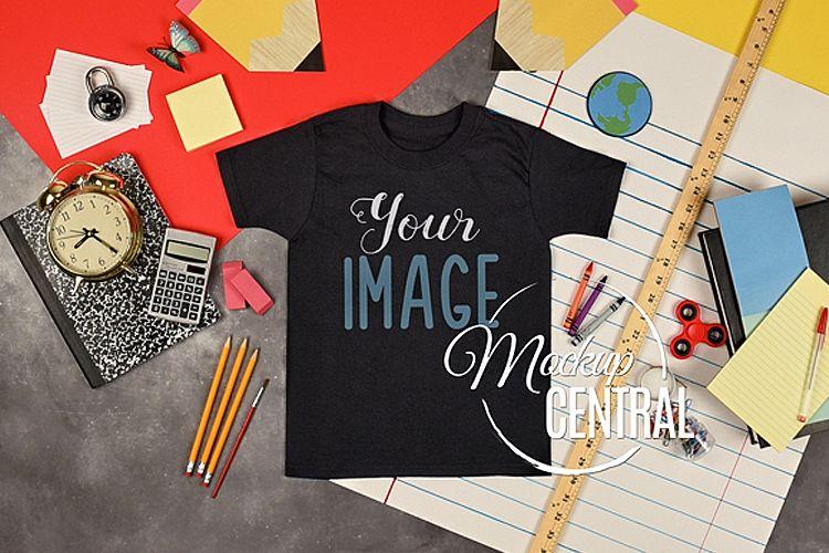 Youth T-Shirt School Mockup, Student Child Shirt JPG example image 1