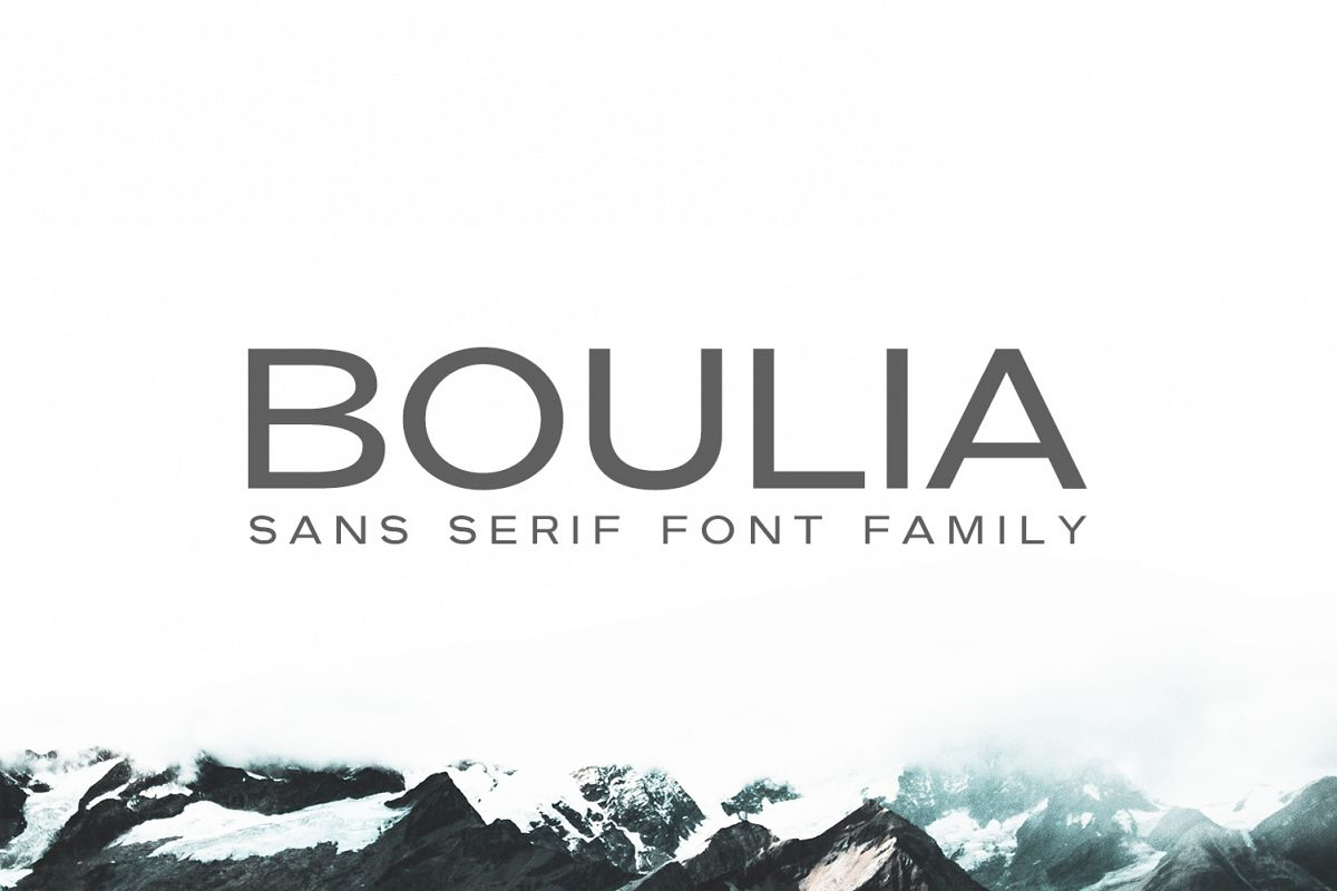 Boulia Sans Serif Font Family example image 1