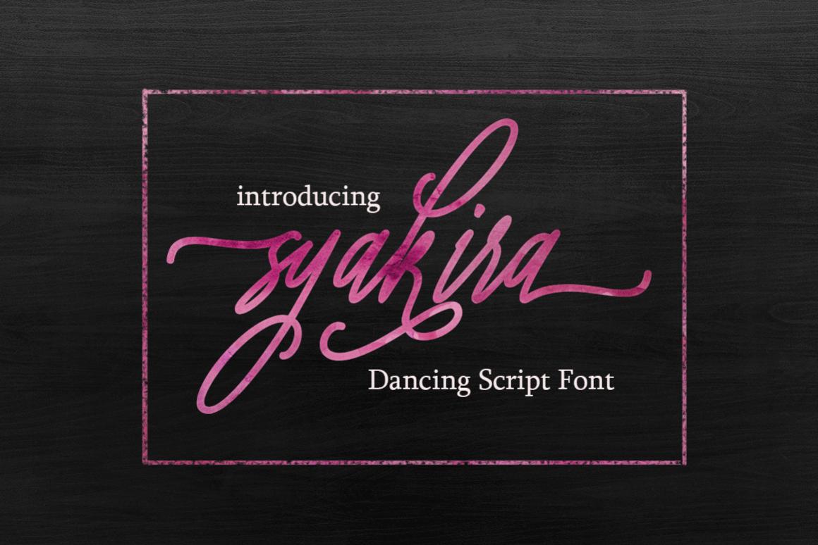 Syakira Script Font example image 1