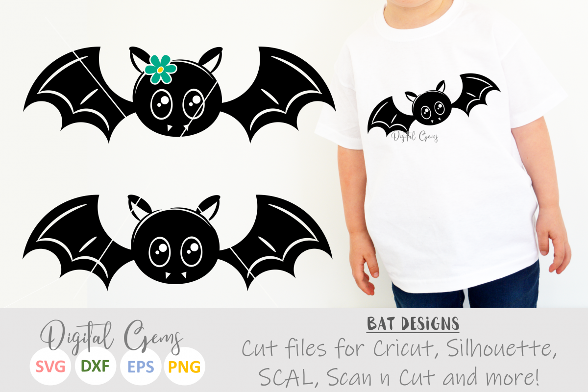 Mr and Mrs Bat SVG / EPS / DXF / PNG files example image 1
