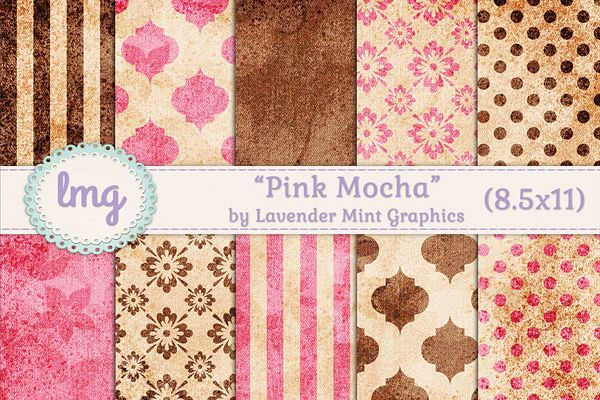 Pink and Brown Digital Journal Papers example image