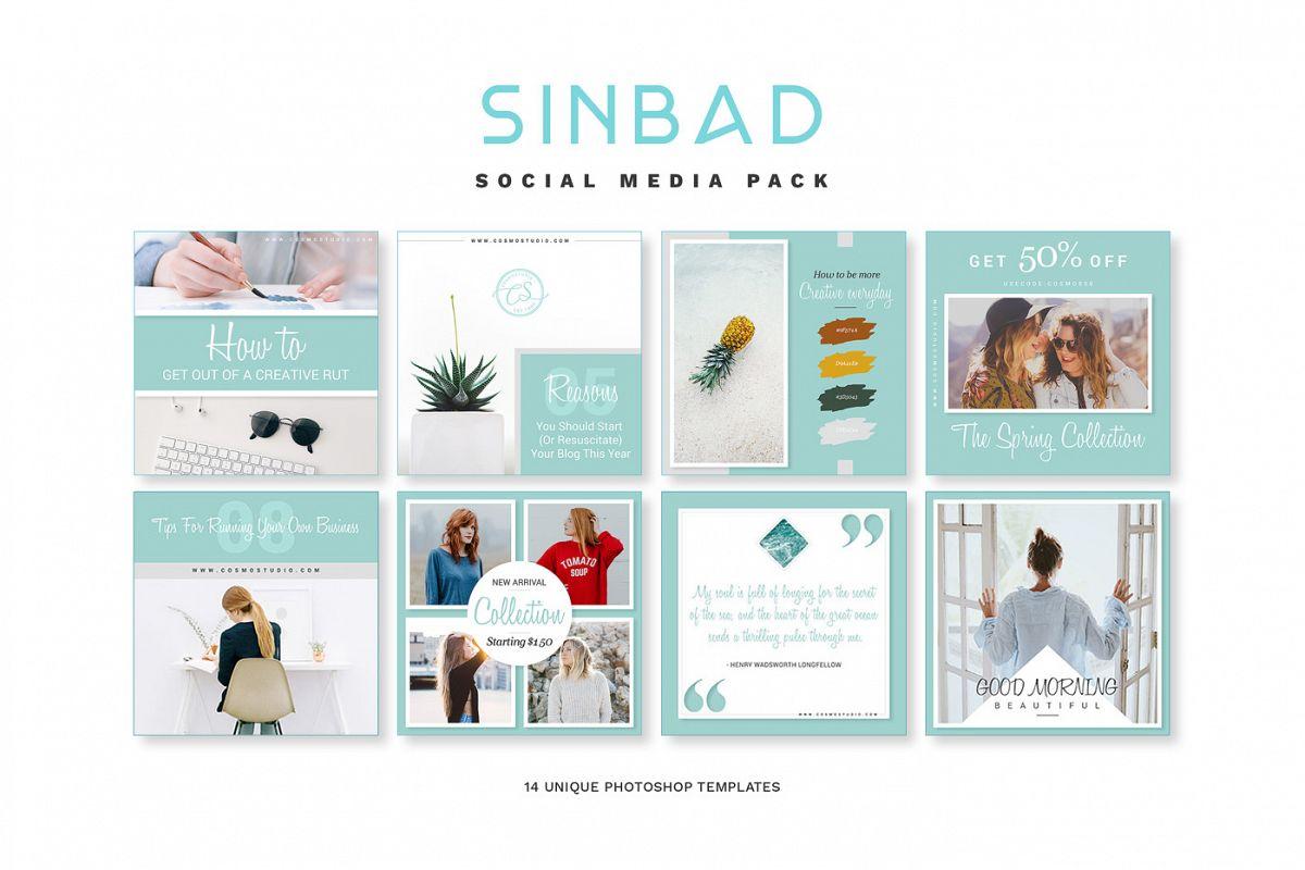 SINBAD Social Media Pack example image 1