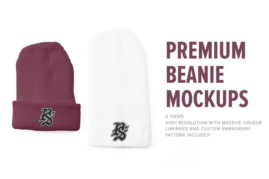 Premium Beanie Mockups example image 1