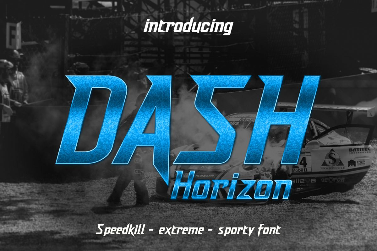 Dash Horizon - Sporty Display Font example image 1