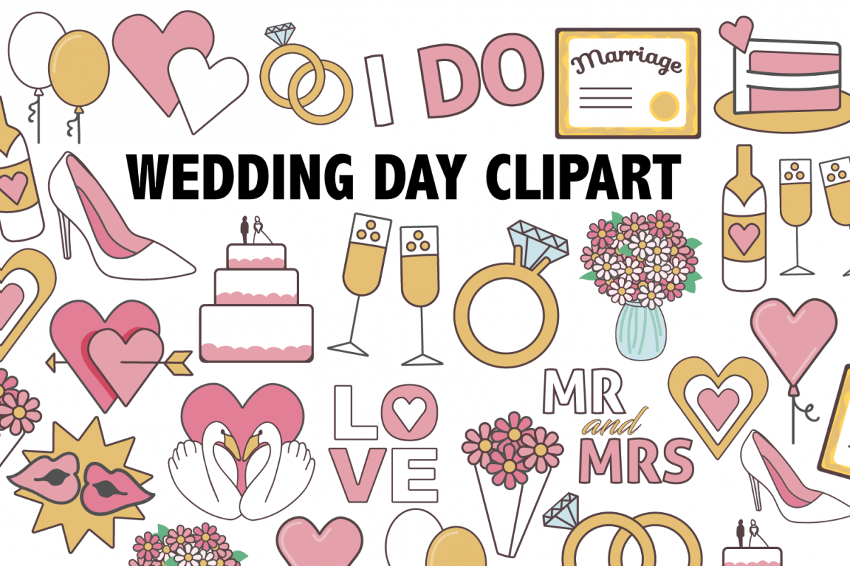 Wedding Day Clipart example image 1