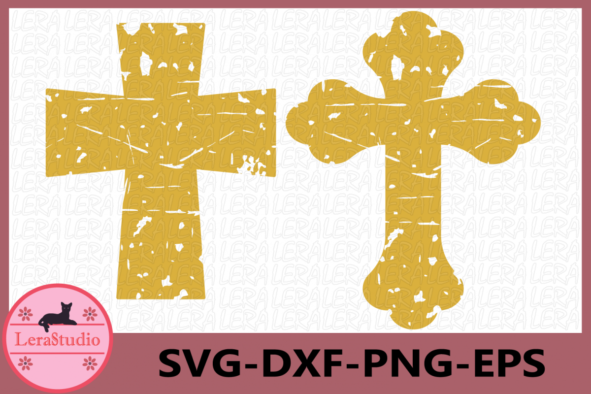 Cross Grunge SVG, Distressed Cross Svg, Christian Cross Svg example image 1