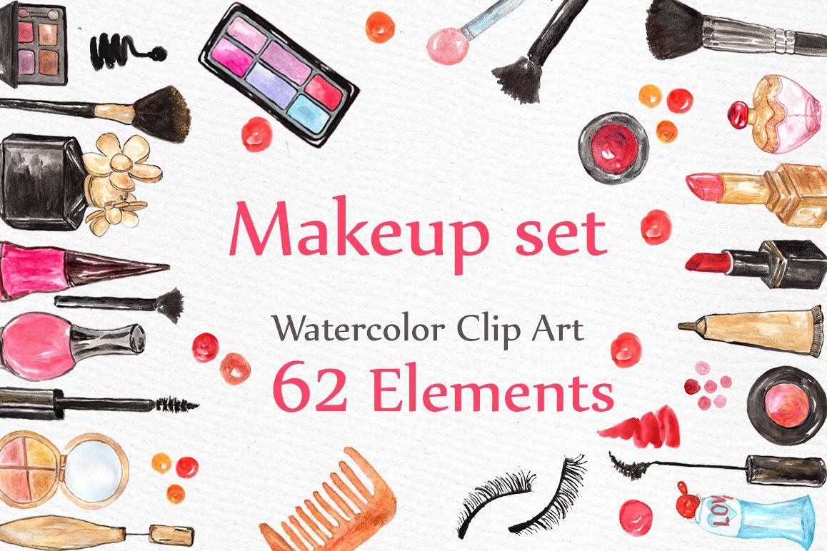 Watercolor makeup set example image 1
