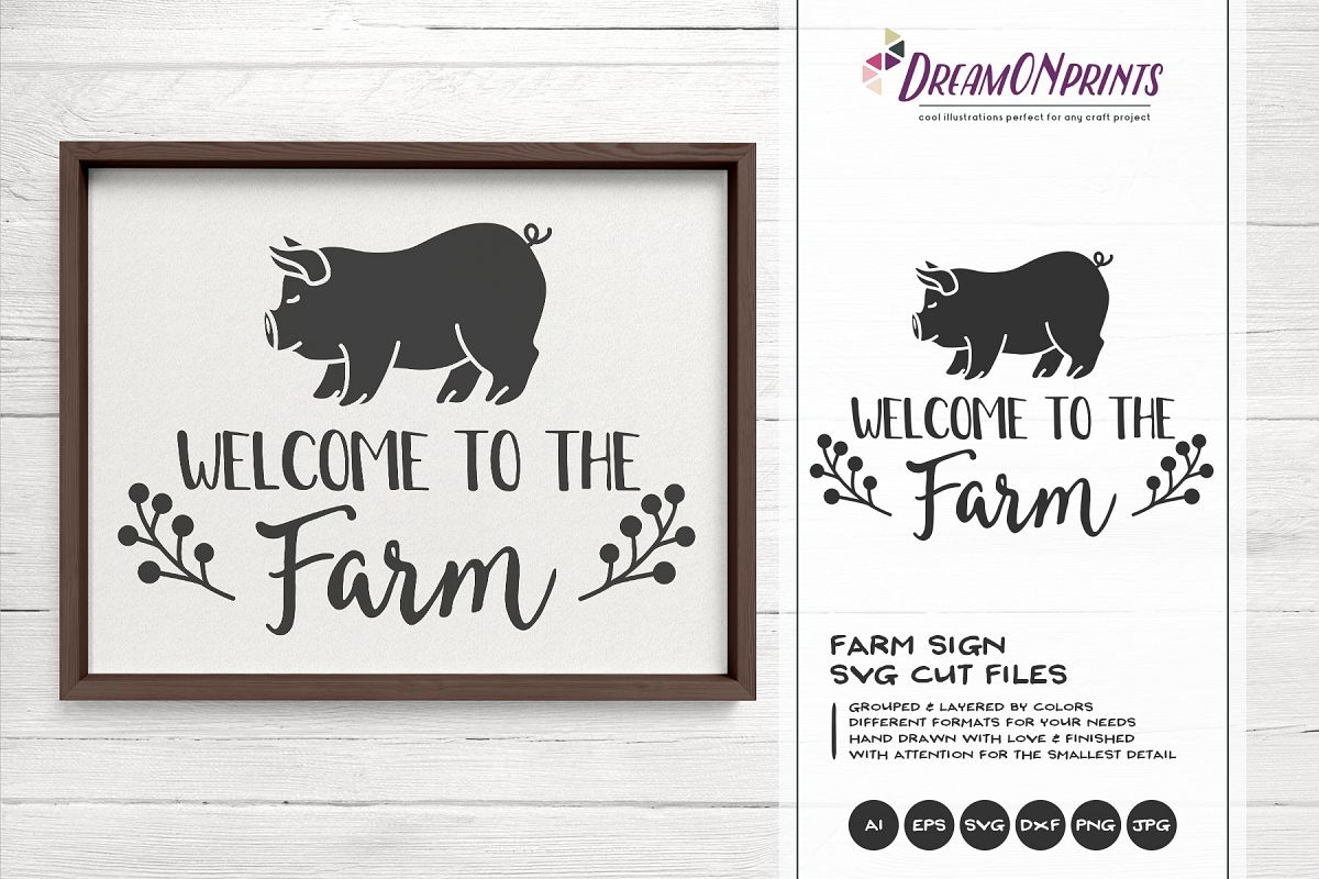 Welcome to the Farm SVG - Pig SVG Cut Files example image 1