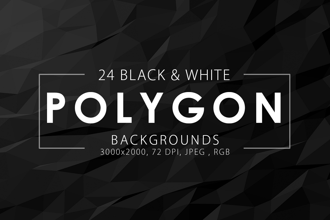 Black & White Polygon Backgrounds example image 1