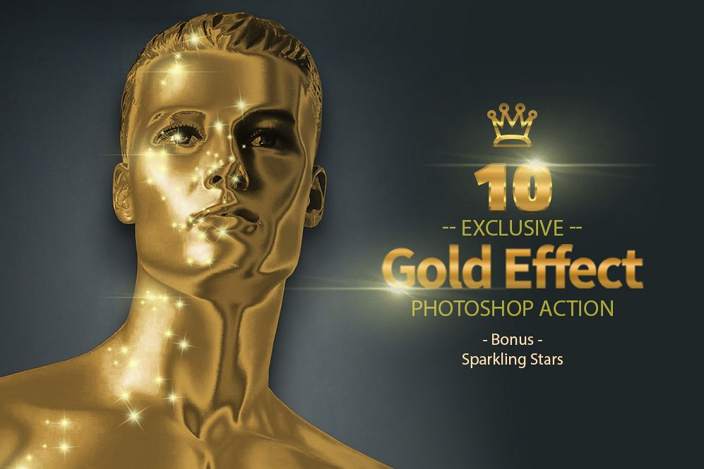 10 Gold & Sparkling Stars example image 1