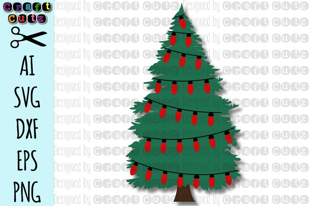 Christmas Tree With Lights Svg Christmas Stencil