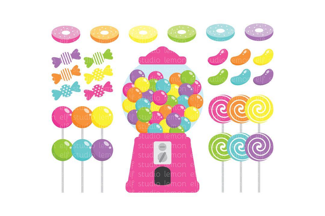 Candy Shop-Digital Clipart (LES.CL05B) example image 1