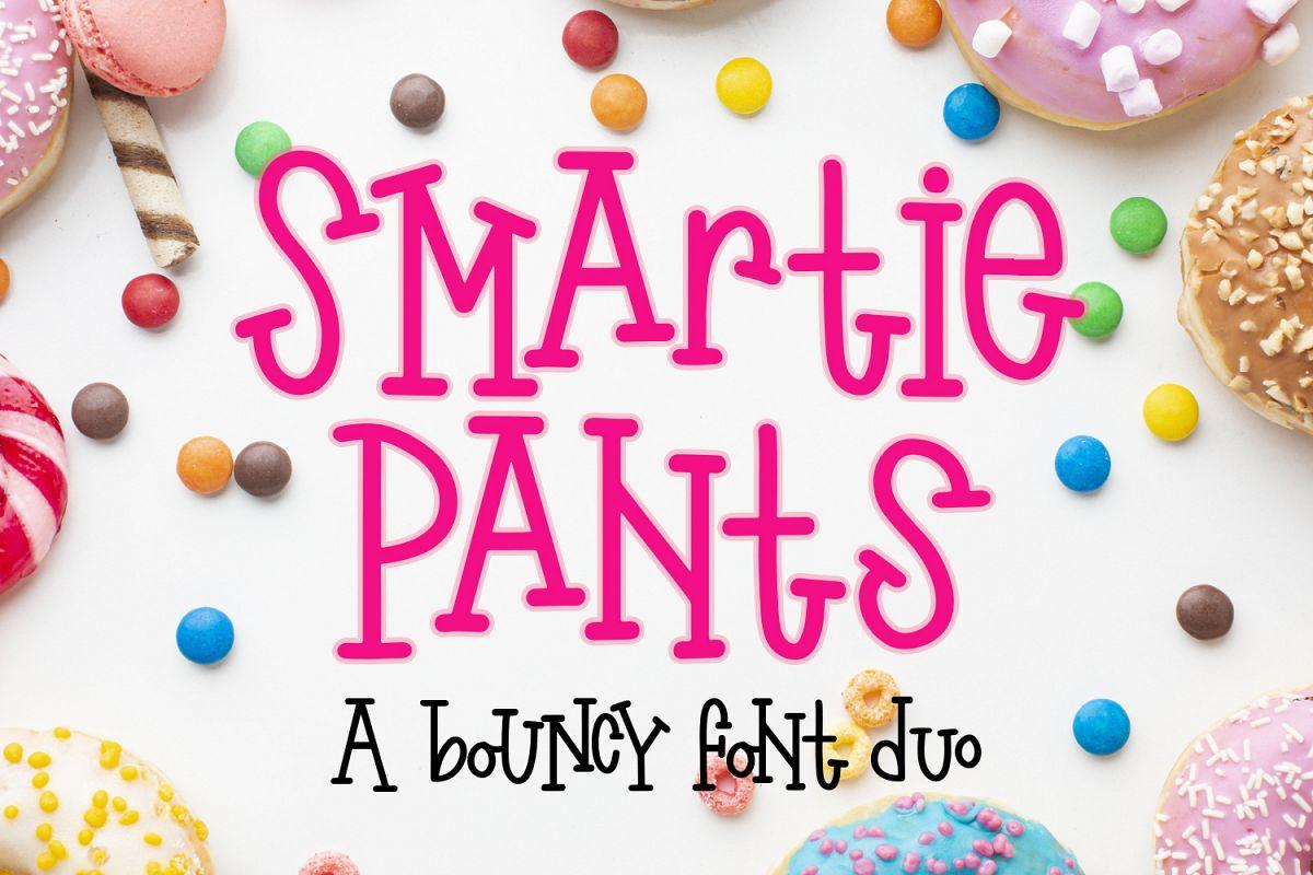 Smartie Pants Font - A bouncy font duo example image 1