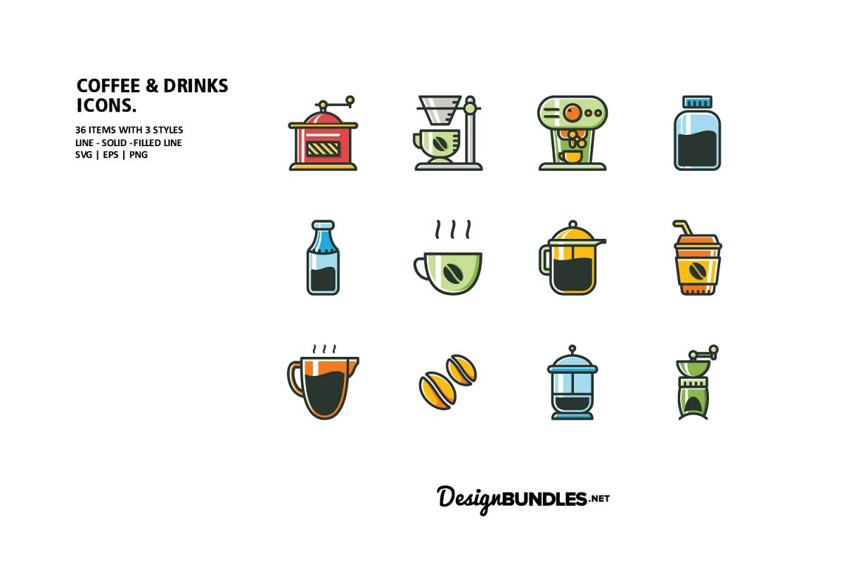 Coffee & Drink Icons example image 1